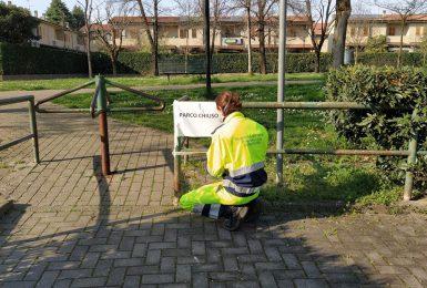 Parco chiuso COVID19 Vignate